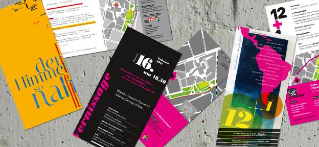 Palais Kabelwerk Einlandungskarten 2010-2012