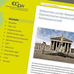 Website der Österreichischen Gesellschaft für Politikwissenschaft