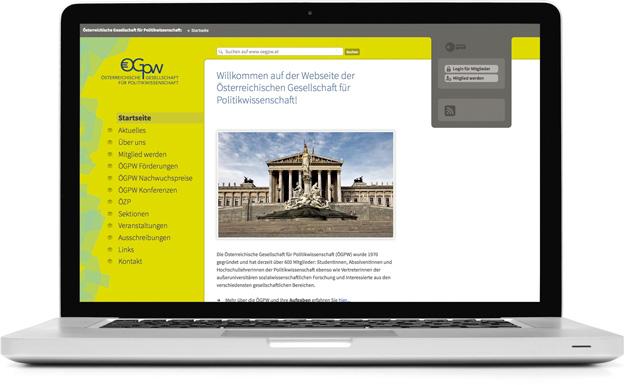 Webseite der Österreichischen Gesellschaft für Politikwissenschaft