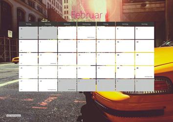 XML Kalender-Vorlage 12p 1c